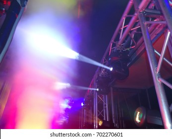 light effects at party from a dj