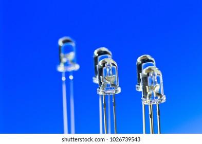 Light emitting parts of LED