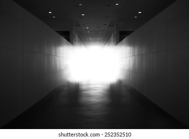 Light at the end of tunnel concept