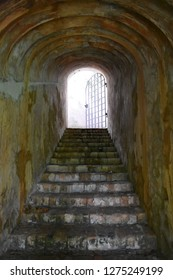 Light at the end of the tunnel (sally port at Fort Canning, Singapore)