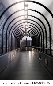 Light at End of Tunnel. tunnel in the subway for the passage of personnel