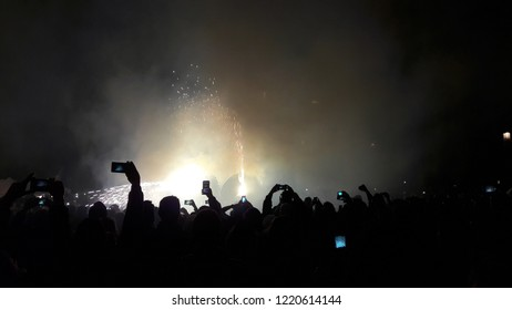light festival in Barcelona Barcelona/Catalonia/Spain -02/11/2017