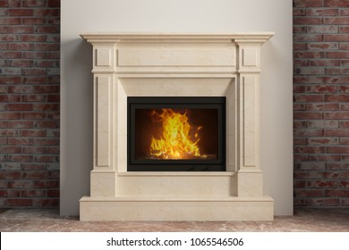Light fireplace in home