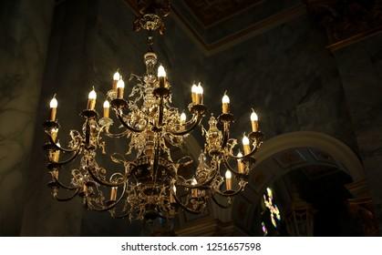 Light glass lamp