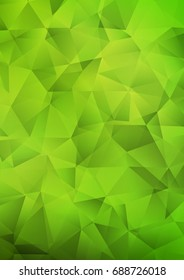 Light Green abstract polygonal background. Shining illustration, which consist of triangles. Brand-new design for your business.
