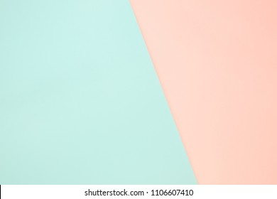 Light green and orange pastel paper color for background