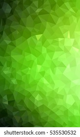 Light Green Pattern. Seamless triangular template. Geometric sample. Repeating routine with triangle shapes. Seamless texture for your design. Pattern can be used for background.