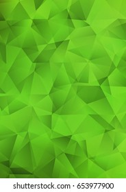 Light Green polygon abstract pattern. Colorful abstract illustration with gradient. The completely new template can be used for your brand book.