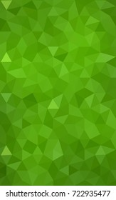 Light Green polygonal illustration, which consist of triangles. Triangular design for your business. Creative geometric background in Origami style with gradient