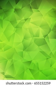 Light Green polygonal pattern. Brand-new colored illustration in blurry style with gradient. The polygonal design can be used for your web site.
