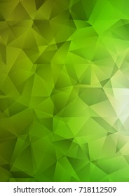 Light Green shining triangular background. Brand-new colored illustration in blurry style with gradient. The polygonal design can be used for your web site.