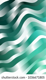 Light Green template with lines, ovals. Geometric illustration in marble style with gradient.  Brand-new design for your ads, poster, banner.