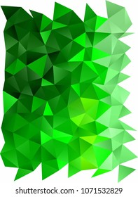 Light Green vertical low poly pattern. A vague abstract illustration with gradient. Brand-new design for your business.