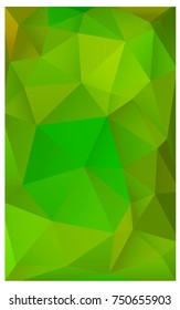 Light Green, Yellow abstract textured polygonal background. Blurry triangle design. Pattern can be used for background.