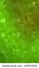 Light Green, Yellow blurry triangle background design. Geometric background in Origami style with gradient.