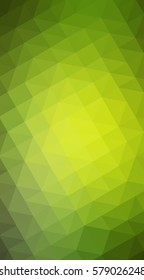 Light Green, Yellow Low poly crystal background. Polygon design pattern. Low poly illustration, low polygon background.