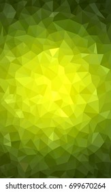 Light Green, Yellow modern geometrical abstract background. Texture, new background. Geometric background in Origami style with gradient.