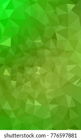 Light Green, Yellow polygonal illustration, which consist of triangles. Triangular design for your business. Creative geometric background in Origami style with gradient