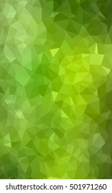 Light green-yellow abstract mosaic template. Creative illustration in halftone style with gradient. The template can be used as a background for cell phones.