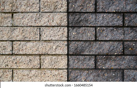Light grey clay brick and mortar wall in. Live wallpaper background. Slow motion. Place for text, title - Shutterstock ID 1660485154