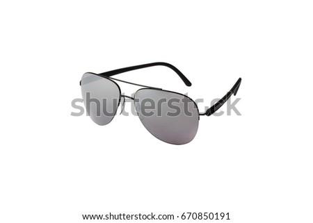 Light grey fashionable sunglasses