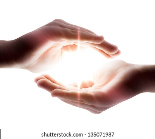 light in the hands