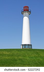 A light house in a park at Long Beach, CA