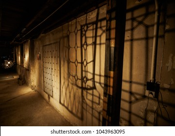 The light impact the wrought iron cause shadow.