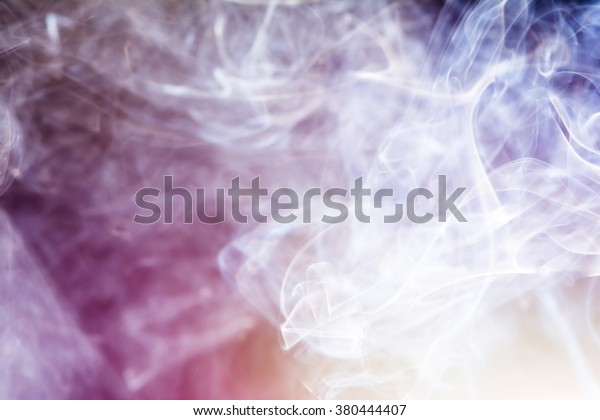 Light incense smoke abstract background.