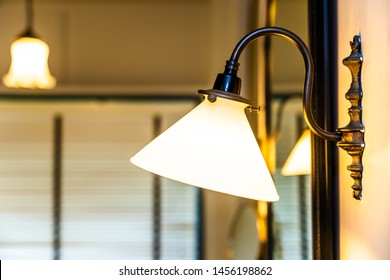 Light lamp on wall decoration interior of room