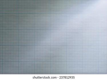 Light leak on crumpled graph paper