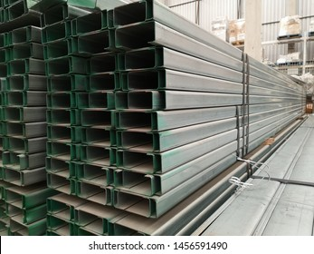 stack​ of galvanize​d​ light lip channel steel​ or C​ channel steel​