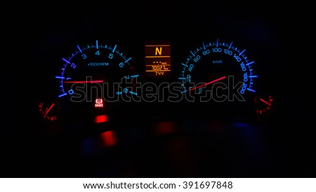 Light Mile Gauge Car Stock Photo (Edit Now) 391697848