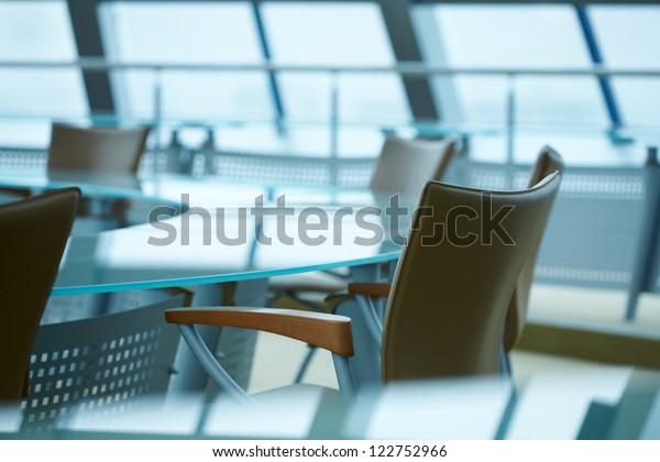 Light modern boardroom meeting
