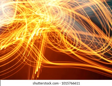 Light motion abstract photo of fire, modern virtual space design image