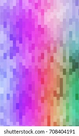 Light Multicolor, Rainbow abstract textured polygonal background. Blurry rectangular design. The pattern with repeating rectangles can be used for background.