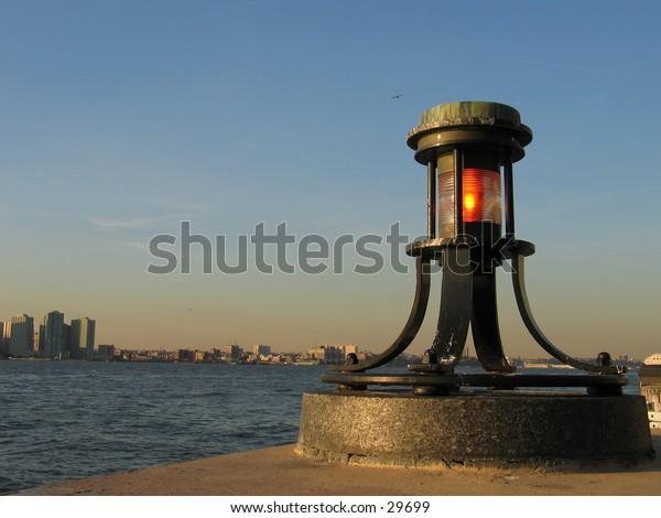A light near the WTC site