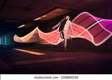 Light Night Jump Levitate