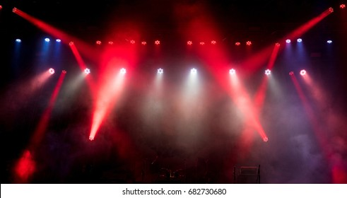 Light on an empty stage before the concert.