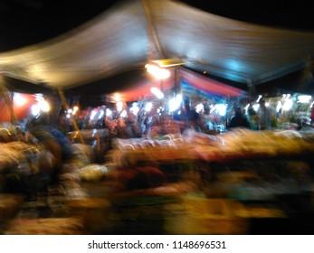 Light on traditional market