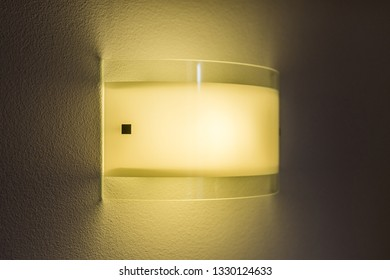 The light on the wall. Light and heat source. Energy saving.