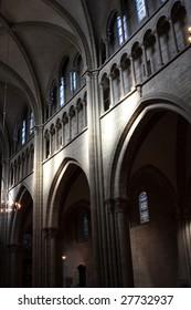 light on the wall inside church