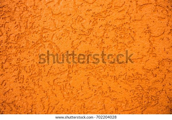 Light orange concrete wall texture background, yellow concrete texture