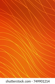 Light Orange natural abstract pattern. Brand-new colored illustration in blurry style with doodles. A completely new template for your business design.