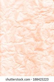 Light orange texture crumpled paper