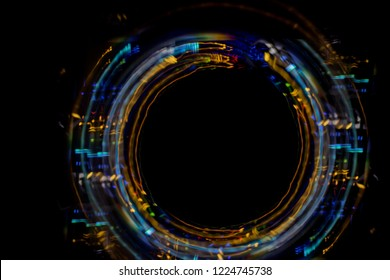 light painting abstract colorful moving leds