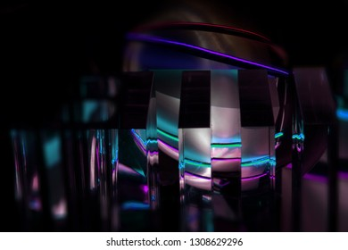 light painting crystal ball reflections and refractions
