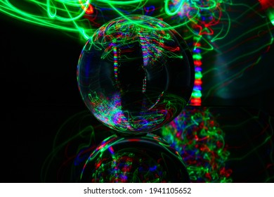 Light Painting with a Glass Ball.New Photography ideas with long Exposure Time .