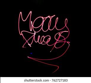 """Light painting: """"Merry Xmas"""""""