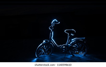 Light Painting Photography - Bike